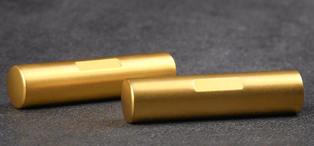 目印付き·ゴールドチタン印鑑、実印、はんこ